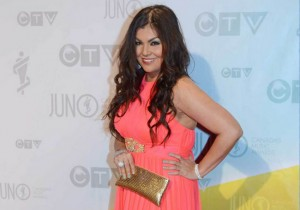 Crystal Shawanda on the red carpet at the Juno Awards on April 21, 2013.