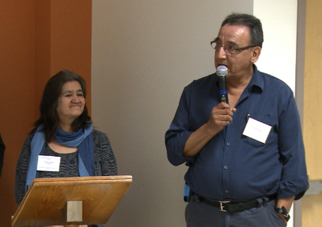 Emilie Mowatt and Normand Kistabish  from Abitibiwinni First Nation. (Pikogan) are survivors of the residential school in nearby Amos, Quebec.