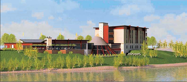 Artist's rendering of the new Manitoulin Island Hotel and Conference Centre.