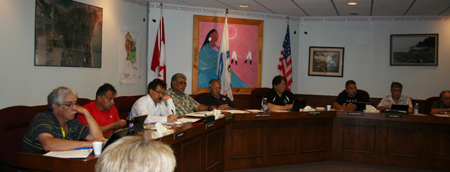 Chief and Council in Kettle and Stony Point approve draft constitution.