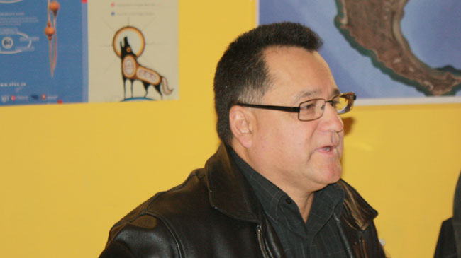 Grand Council Chief Patrick Madahbee at the South East Chiefs meeting in Beausoleil First Nation on October 10, 2013    – Photo by Marci Becking