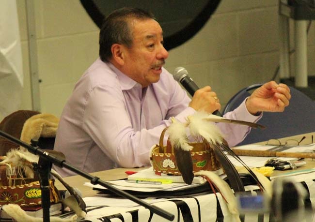 Ontario Regional Chief Stan Beardy at the Nov. 13 Anishinabek Nation Special Assembly on Education.