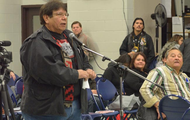 Kettle and Stony Point First Nation Chief Thomas Bressette.       – Photo by Monica Lister