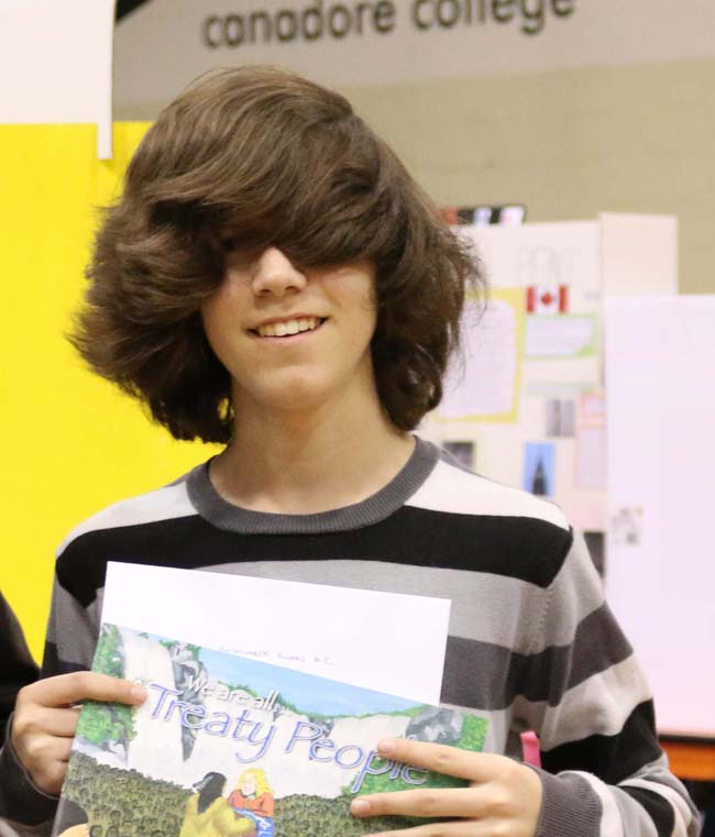 Austin Campbell won an Anishinabek Nation Award for his project 'Hidden Secrets'.