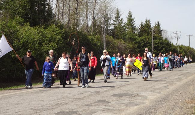 Water walkers stride together to honour Lake Scugog on Mother's Day weekend.