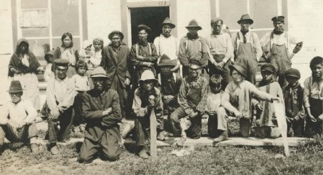 Some Pic River First Nations participants in Treaty Day at Longlac, July 24, 1917 - Photo courtesy University of Oregon Archives, Pinkerton Papers