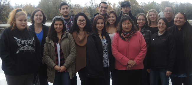Ontario Federation of Indigenous Friendship Centres Aboriginal Youth Council representatives gathered on Lake Simcoe to learn about threats to water sources and were given sacred water teachings by Water Walker Josephine Mandamin.