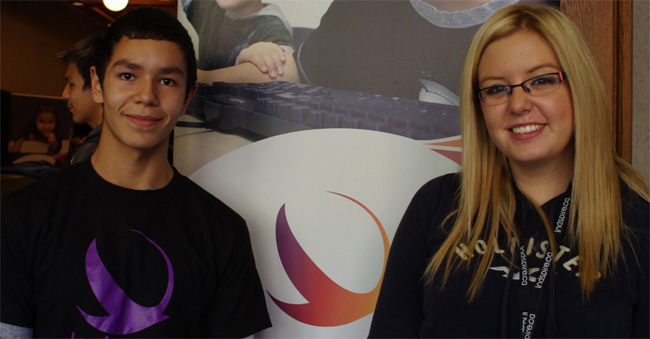 Lake Helen Grade 10 student Dennis Wawia and Fort William Grade 11 student Danielle Boudreau enjoyed learning about career opportunities at Indspire's Soaring: Indigenous Youth Career Conference, held Oct. 21 in Thunder Bay.