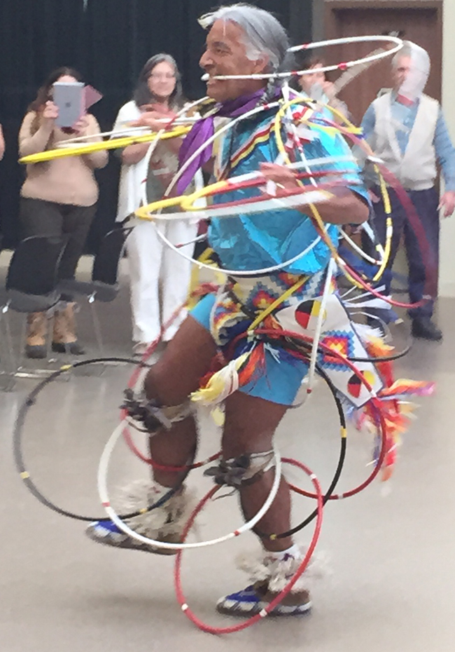 Lakota hoop dancer Kevin Locke.