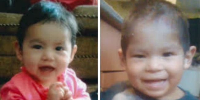Haley (left) and Harley Cheenanow died in a house fire on the Makwa Sahgaiehcan First Nation on February 17. (lenecrologue.com and obitsforlife.com)