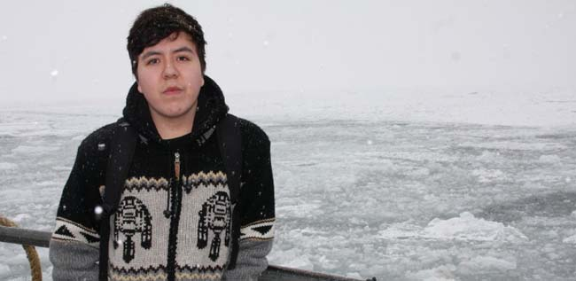 Shane Monague takes care of the water in Beausoleil First Nation.