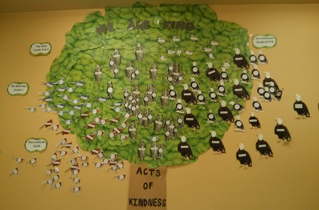 Kindness (Love) is the first Grandfather Teaching. At Netamisakomik Centre for Education, the Acts of Kindness Tree records good deeds. Principal Jacky Craig believes that instilling discipline should be positive, through example and persuasion. 'Being sent to the Principal's office is not a bad thing at our school'.