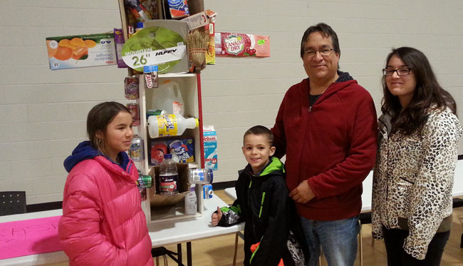 Greg Plain and his family entered a recycling project at Aamjiwnaang's Earth Day celebration.