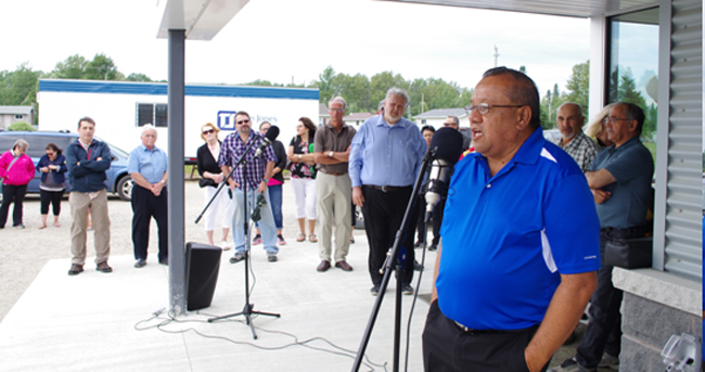 Deputy Grand Council Chief Glen Hare helped the Red Rock Indian Band to celebrate the grand opening of its Professional Business Complex on July 24.
