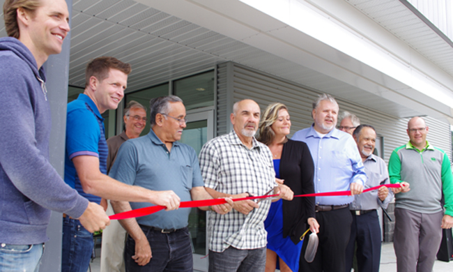 The Red Rock Indian Band celebrated the grand opening of its Professional Business Complex with a ribbon cutting on July 24.