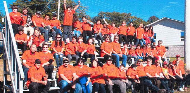Moose Deer Point Staff and students on Orange Shirt Day, Sept. 30.