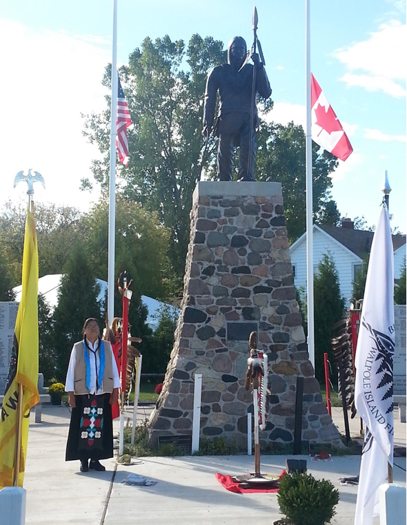 Walpole Island celebrated the unveiling of its seven-and-a-half-foot Tecumseh statue on Oct. 5, 202 years after the Shawnee leader and British ally died during the Battle of the Thames in 1813.