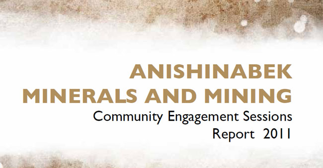 Union of Ontario Indians issued a report on Anishinabek Minerals and Mining in 2011 where recommendations were made for Anishinabek Stewardship and  use of traditional knowledge -- just  as  the TRC recommends.