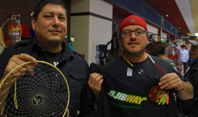 Garden River's Michael Nolan and Anthony Perreault sold a variety of arts and crafts at the 15th Annual Aboriginal Fine Arts and Crafts Christmas Gift Show and Sale in Thunder Bay.