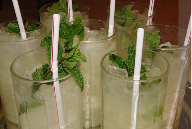 Mint Julep mocktail for the holidays.