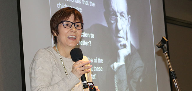 Dr. Cindy Blackstock, Executive Director of the First Nations Child and Family Caring Society of Canada, spoke to some 150 participants at the 'Awakening the Nation - Renewing the Spirit' health conference in Sault Ste. Marie.
