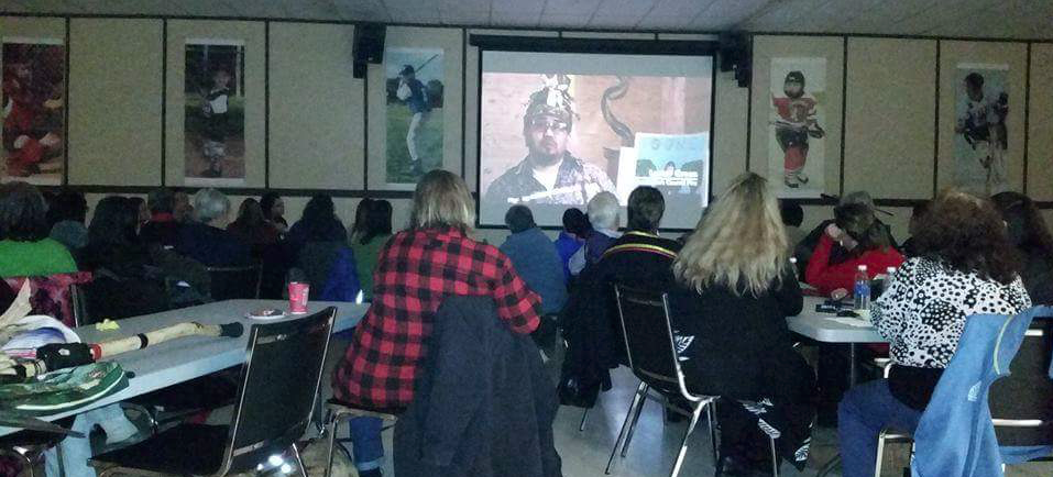 'Our Sisters in Spirit' film screening in Curve Lake First Nation. -- photo by John Fox