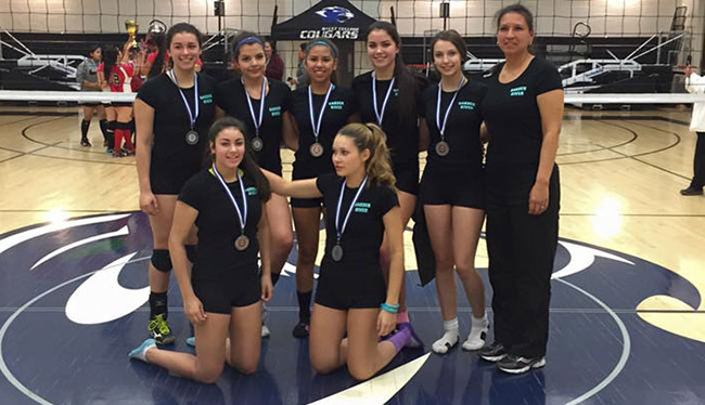 Silver medalists - Garden River First Nation girls team.