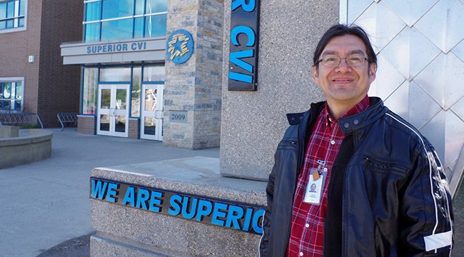 Biinjitiwaabik Zaaging Anishinaabek's David Thompson has taught Native Language high school courses in Thunder Bay and Native Language elementary school courses in Ear Falls since graduating from Lakehead University's Native Language Instructor's Program in the 2000s.