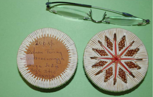 The late Dianne Toney was a Mi'kmaw elder who made quill boxes. Dr. Lisa Lunney Borden made those Indigenous Knowledge connections to teaching Math during her presentation at the Nigaan Ga-Zhaamin - We are Going Forward Together education conference.