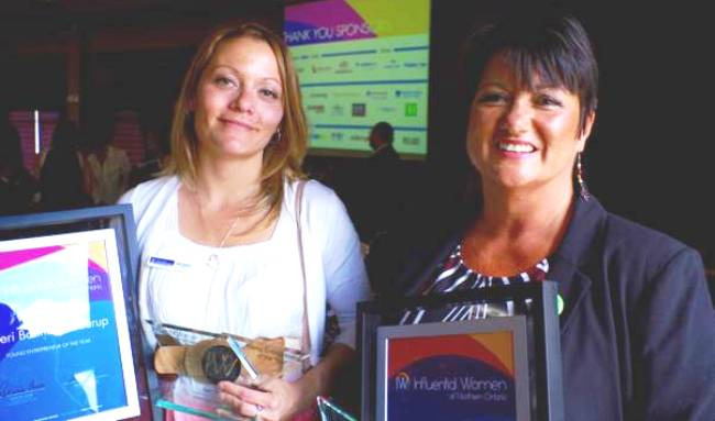 Fort William's Kateri Banning-Skaarup (left) and Red Rock Indian Band's Wendy Landry (right) received Influential Women of Northern Ontario Awards on June 2 in Thunder Bay.