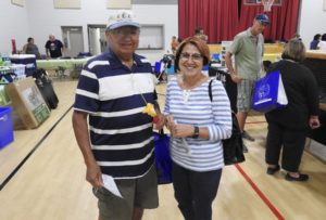 Chief Joanne Rogers and husband Charlie Rogers participating in the second annual Envirofest on August 13, 2016 in Aamjiwnaang First Nation.