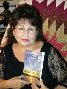 June Shawanda Richard at her book launch in Wikwemikong First Nation during their 56th Annual Wikwemikong Cultural Festival in early August, 2016.
