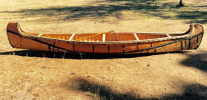 The canoe that was hand-crafted by Mike Ormsby