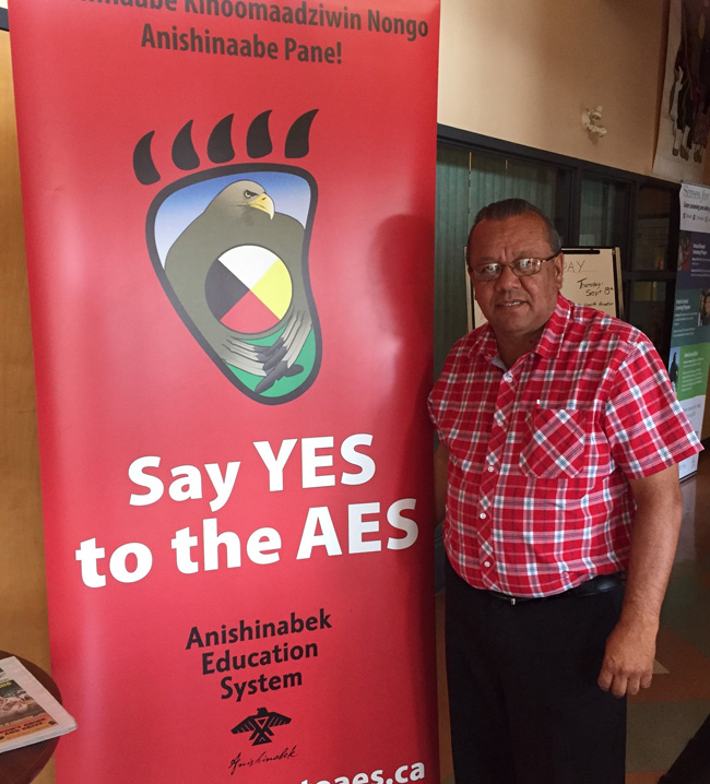 Deputy Grand Council Chief Glen Hare at the Sault Ste. Marie education vote information session on Sept. 6.