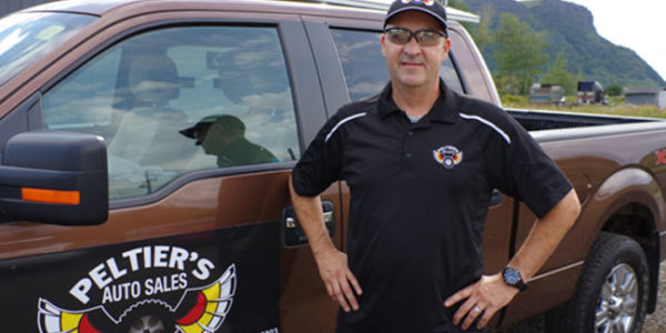 Fort William's J.C. Peltier is following a life-long dream to sell vehicles after opening up Peltier's Auto Sales this past spring on City Road in Fort William.