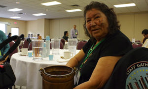 Water Walker Josephine Mandamin, originally from Wikwemikong, performed a water ceremony to open the Northern Ontario First Nation Environment Conference, held Oct. 4-6 near Thunder Bay.