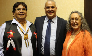 Chief Thomas Bressette, The Honourable Mr. Justice Johnathon C. George, Lorraine George, First Nation Manager/CEO
