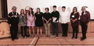 The Beausoleil Youth Council met with Grand Council Chief Patrick Madahbee and Deputy Grand Council Chief Glen Hare during an Anishinabek Education System Information Session and the Youth Council's inauguration ceremony on Nov. 15.