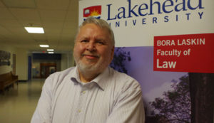 Red Rock Indian Band's Gilbert Deschamps looks forward to getting more Indigenous people involved in the study of law through his new position as director of Indigenous relations at Lakehead University's Bora Laskin Faculty of Law.