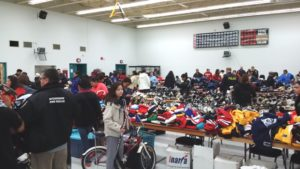 This photos were from the Winch Sport Equipment Drive held in M'Chigeeng FN on Oct 27, 2014. Photo courtesy of West Parry Sound OPP