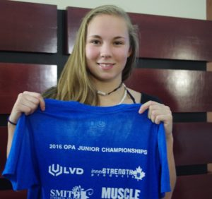 Trena Restoule at the Powerlifting