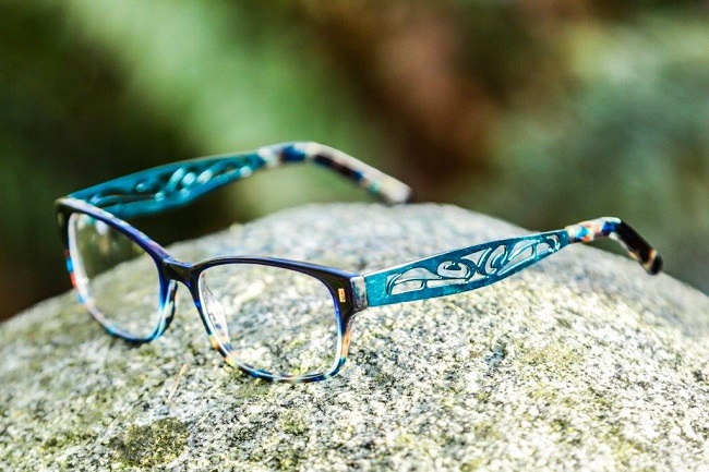 6c68b34c2be Kwakwaka wakw Tlingit artist Corrine Hunt created her new Celeste eyewear  design for AYA Optical using a raven giving light image but also with the  light ...