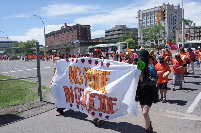 No Pride in Genocide marchers call on protectors and allies to come together